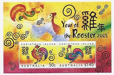 Australia Post Christmas Island 2005 'year Of The Rooster' Mini Sheet - Mint Mnh