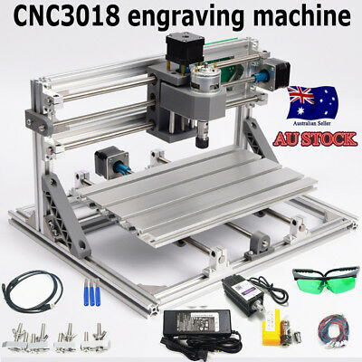 3Axis CNC 3018 Router 500mw laser Engraver Engraving Machine Carving Cutter AU
