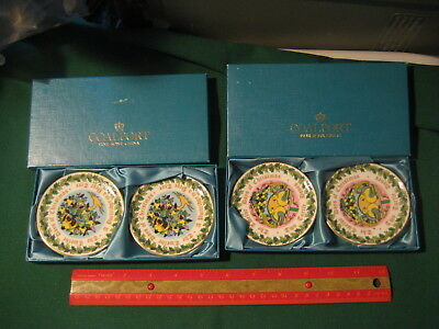 Vintage Set of 4 Coalport Fine Bone China Christmas Plates 1980 Made in England