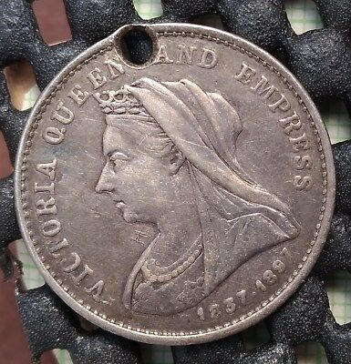 1837-1897 Queen Victoria 60th Year of Reign Medallion