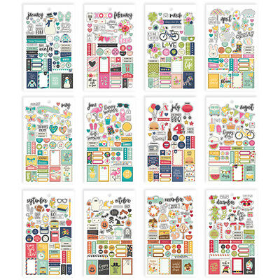 Simple Stories - Seasons - Mini Sticker Pack - 578 Stickers  12 Pages