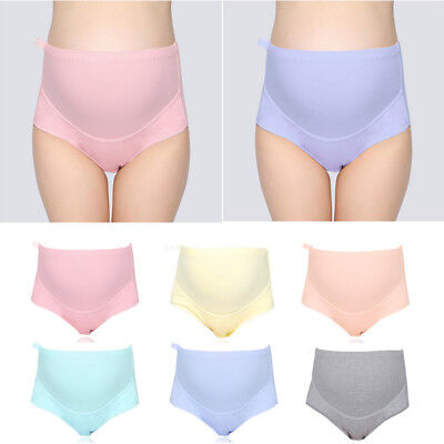 Women Panties Pure Cotton Pregnant Women High Waist Maternity Adjustable E0227