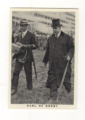 Wills Horse Racing Card. Owner The Earl of Derby