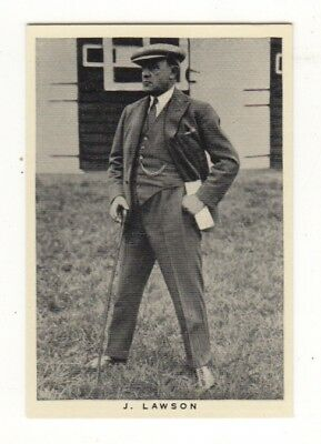 Wills Horse Racing Card. Trainer J. Lawson