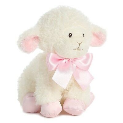 Aurora Baby 8 inch Blessing Lamb Plush Pink Toy