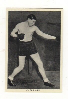 Wills Boxing Card.  Jimmy Walsh