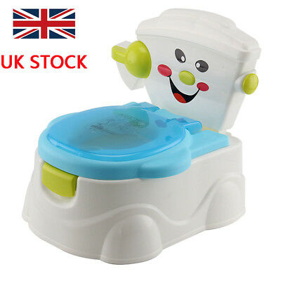 2 in 1 Baby Toilet Trainer Child Toddler Kid Music Potty Training Fun Seat Chair