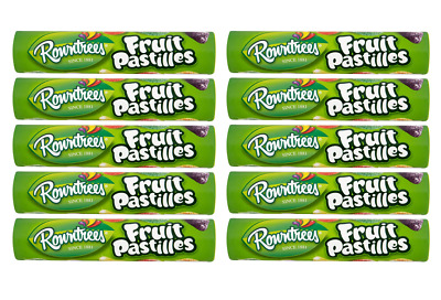 903510 10 x 52.5g ROLLS OF ROWNTREES FRUIT PASTILLES GUMMY CANDY MADE IN THE UK!