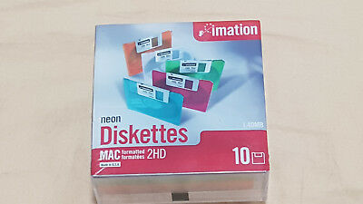 Imation MAC 1.40 MB 2HD 3.5 Floppy Disks 10-Pack In Sealed Box!