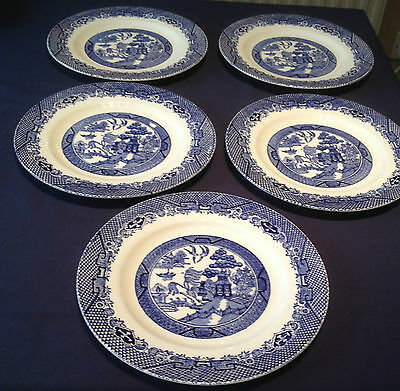 "5 x 9"" Blue & White Vintage Willow Barratts of Staffordshire Collection OnlyPO22"