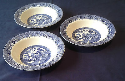 "3 x 8""  Vintage Willow Bowls Barratts of Staffordshire Collection Only PO22"