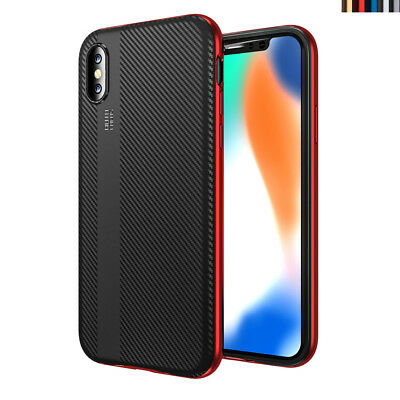 For iPhone X 7 8 Plus Case Ultra Thin Hybrid Rubber Shockproof Armor TPU Cover 1