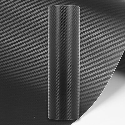 3D Carbon Fibre Vinyl Wrap // MATTE GLOSS BLACK // All Sizes // Bubble/Air Free