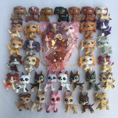 5pcs random LPS dog Collie Great Dane Dachshund Spaniel littlest pet shop lot