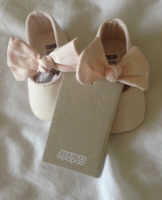 Mama And Papa Baby Girl Pram Shoes 0-3 Months