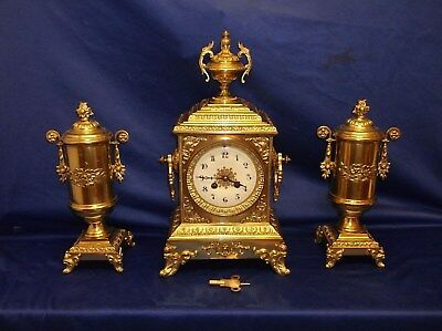 EXCELLENT CLOCK GARNITURE by JAPY FRERES of PARIS..circa 1900 +