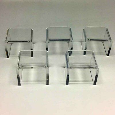 """Clear Acrylic Display Risers 3"""" wide 5 Pack"""