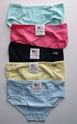 5X Girls Panties Knickers Underwear Mixed Colours Ages 11-12 Yrs