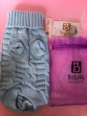 Bolbove Cat & Dog Blue Knitted Sweater