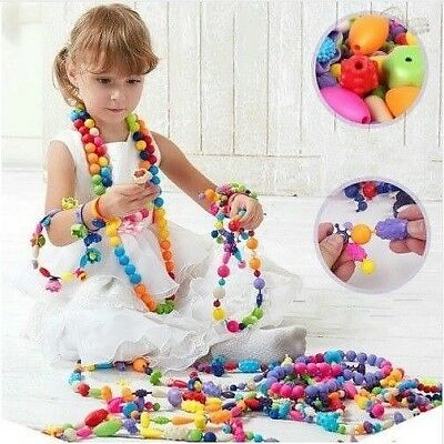 100pcs DIY Art Crafts Pop Beads Set Creative Jewelry Kit Gift Toys For Kids New