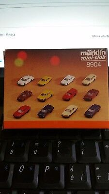 Marklin Z 1:220 8904 Kit 9 Auto Cars  Ovp New Vintage