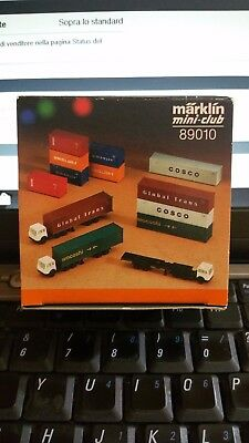 Marklin Z 1:220 89010 Kit 3 Tir Camion E Container Ovp New Vintage