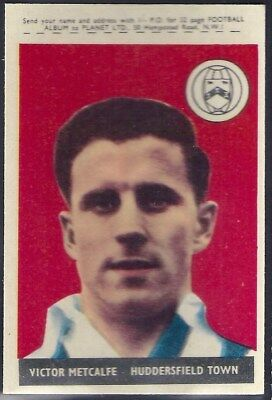 A&bc-Football With Planet (47-92) 1958-#76- Huddersfield Town - Victor Metcalfe