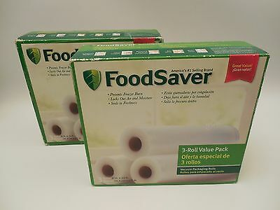 Two Boxes of 3-Roll Value Pack FoodSaver 6 ROLLS IN TOTAL - NEW SEALED BOXES