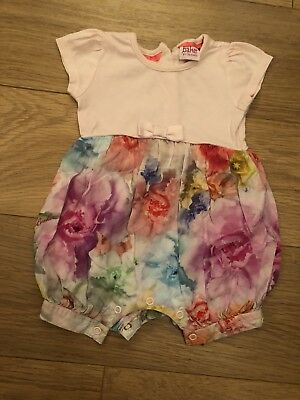 Baby Girls Ted Baker Newborn Floral Romper Pink