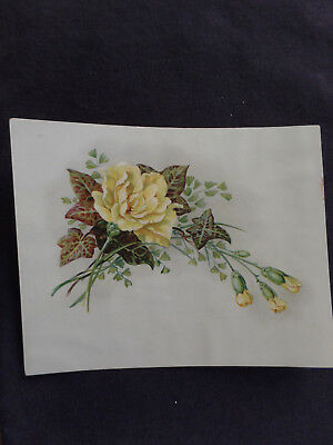 lovely yellow roses Victorian trade card. Pozzoni's complexion powder 1890s