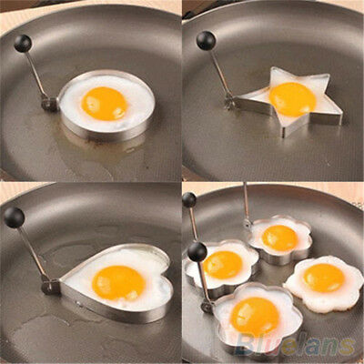 New Hot Stainless Steel Fried Egg Shaped Pancake Mold Kitchen Tools