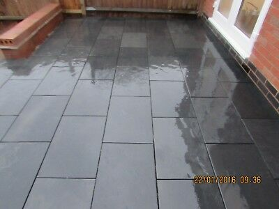 Black Slate Paving✔Patio Slabs Garden 60cmx40cm calibrated 15mm thick ✔FREE DEL✔
