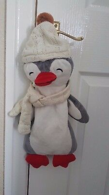 Country Club Cute  Penguin Hot Water Bottle Cover 18""