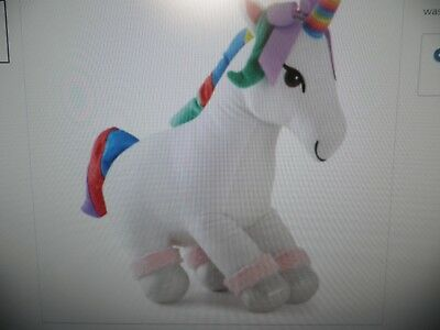 "Jojo Siwa 23"" 3D Unicorn Plush 🦄🌈 Pillow Buddy Rainbow  Bedroom Doll"