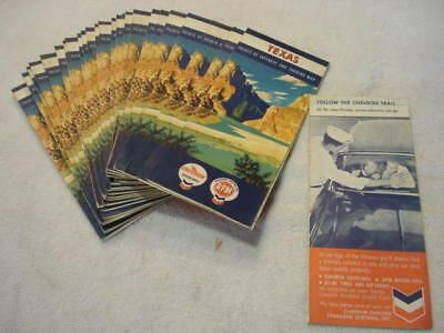 Lot of 25 New Old Stock Chevron-RPM Road Maps of TEXAS