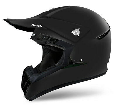 Airoh Switch Color Matt Black Motocross Helmet - Acu Gold Stamp Fitted