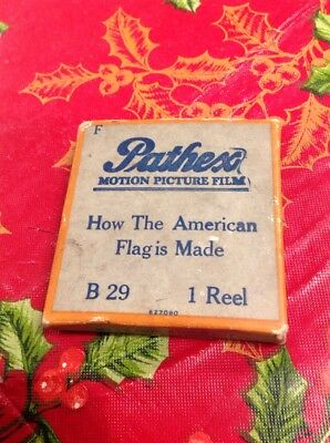 Panthex Motion Picture Film Reel 8 MM B29 American Flag