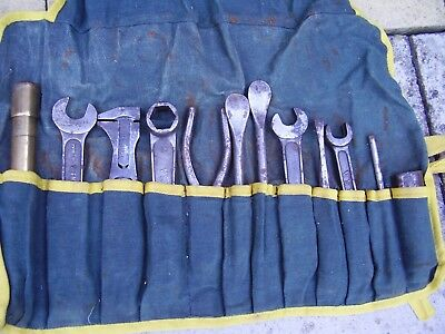 Vintage Bsa Tool Kit With Pump And Magneto Spanners