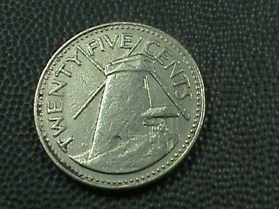 BARBADOS    25  Cents    1980    LIGHTHOUSE  $ 2.99 maximum shipping in USA