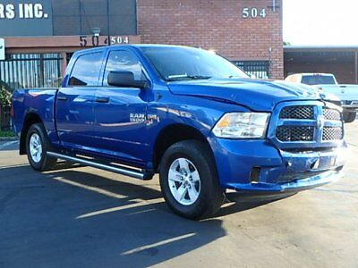 2017 Dodge Ram 1500 Tradesman Crew Cab 2017 Dodge Ram 1500 Crew Cab Wrecked Repairable Only 4K Mi Perfect Color MustSee