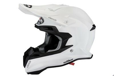 Airoh Terminator 2.1 Color White Motocross Helmet Acu Gold Stamped Approved