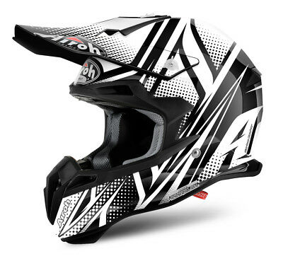 Airoh Terminator 2.1 Cleft Black Motocross Helmet Acu Gold Stamped Approved
