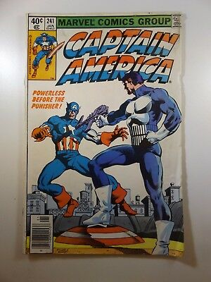 Captain America #241 Powerless before the Punisher! VG-! Great Issue!