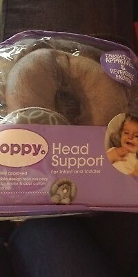 Boppy Infant to Toddler Head and Neck Support Reversible Design Gray (NEW)
