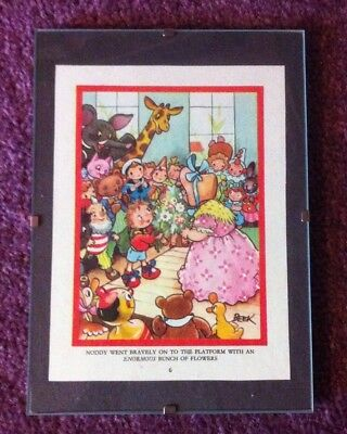 1970's Noddy Print By Beek In Clip Frame- From An Old Book.