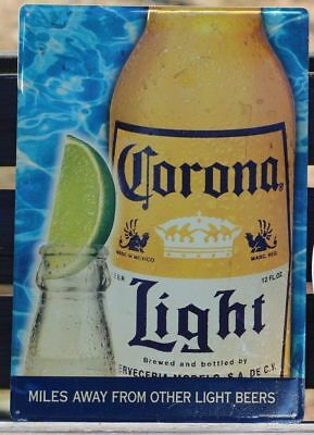 Large Corona Light Beer Metal Sign