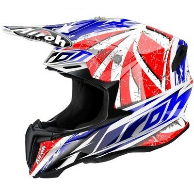 Airoh Twist Gloss Leader Motocross Helmet Acu Gold Stamp Fitted