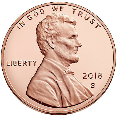 2018 S PROOF Lincoln Shield Cent Penny Coin Deep Cameo GEM directly from Mint