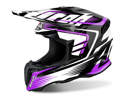 Airoh Twist Mix Purple Motocross Helmet Acu Gold Stamp Fitted