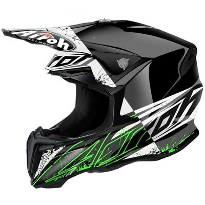 Airoh Twist Gloss Spot Motocross Helmet Acu Gold Stamp Fitted